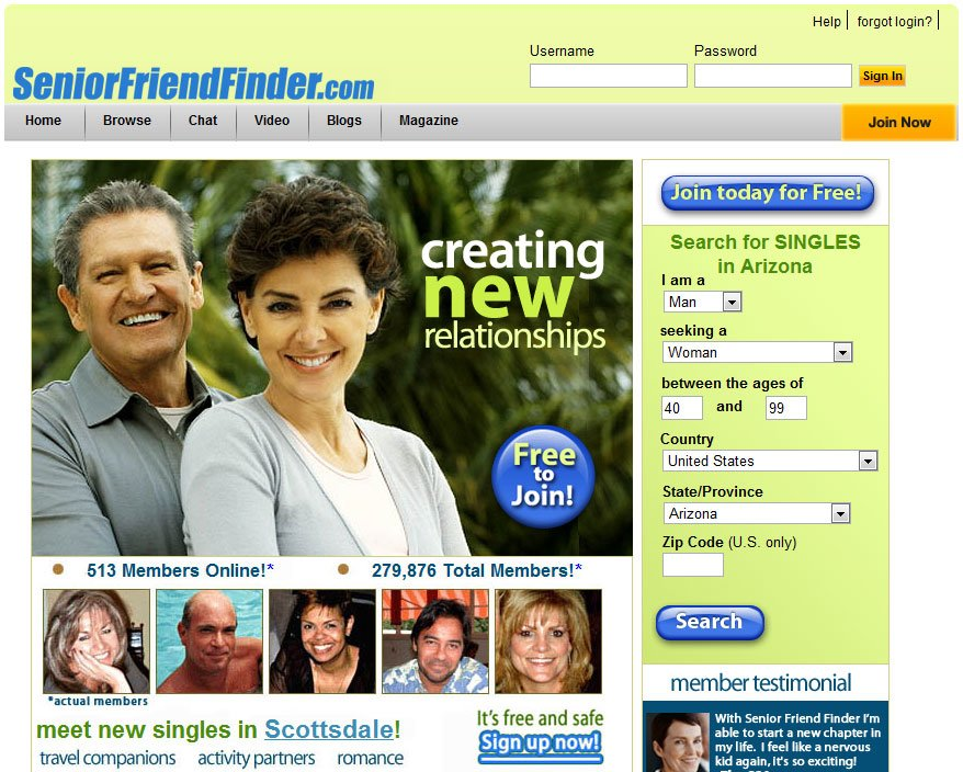 Free Dating Services For Seniors Free